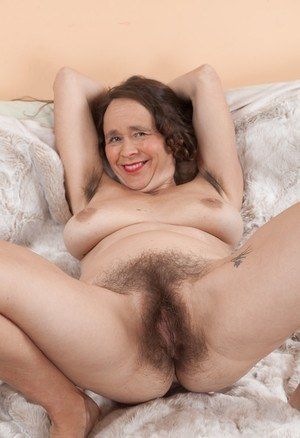 Hairy granny nude mature