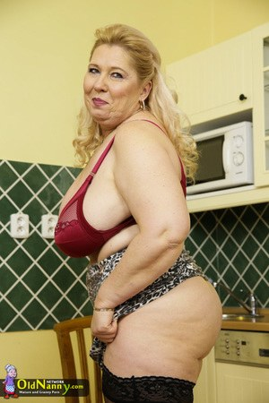 Old Pussy In Kitchen